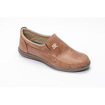 Zapato Náutico Cuero Marrón