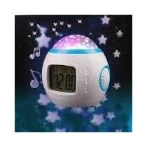 Reloj Despertador Retroproyector Luzsonido Digital Estrellas