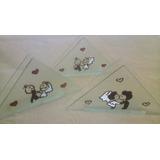 Servilleteros Vidrio Pintado Comunion-casamiento-15 Años