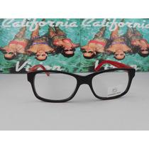 Lente California Vision Mod 131 A Negro / Rojo
