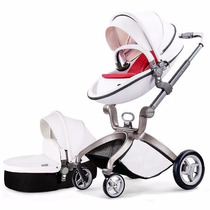 Carrinho Bebe Hot Mom Stroller 2016 3 In 1 C/ Moises Branco
