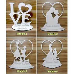 Lembrancinha De Casamento Mdf Branca 10x10cm 30 Modelos