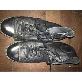 zapatillas converse botitas cuero