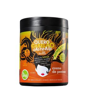 Griffus Quero Cabelão Cacheado - Creme De Pentear 1000g Blz