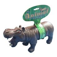 Hipopótamo Animal De Brinquedo Vinil Macio Com Som