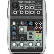 Mezcladora 5 Entradas Behringer Q502usb Interface Usb
