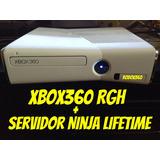 Xbox 360 Rgh + Sevidor Ninja Lifetime Pronta Entrega!