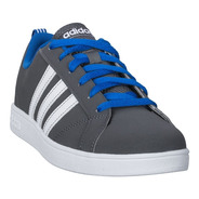 Tenis Para Niño adidas Gris Con Azul Neo Cg5689