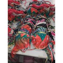 Pack De 12 Unidades Bikinis Estampadas Con Arco Por Mayor