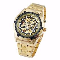Relógio Importado Automático Winner Dourado