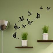 Pack 18 Mariposas Adhesivo Decoración Del Hogar Habitación