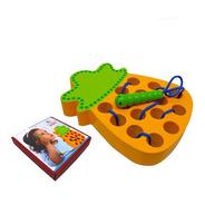 Didáctico Enhebrar Juguete Frutas Niños Montessori Juego