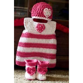 Vestidos Tejios Crochet Ropa Conjuntos Capullo Bebe