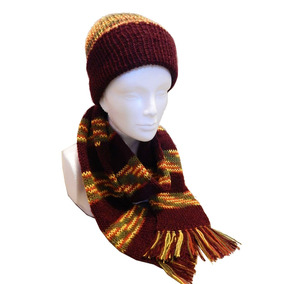 Gorro Y Bufanda Elegante Tejida Crochet Chic Moderna