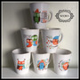 6 Jarros Cónicos Búho Ceramica Desayunos 350cc Souvenir