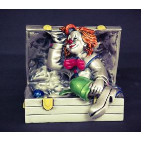 Figuras Payasos De Plata .999 Electroformado-pintados A Mano