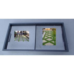 Forma Manual Para Placas De Jardins Calçadas 45 X 45 X 6 Cms
