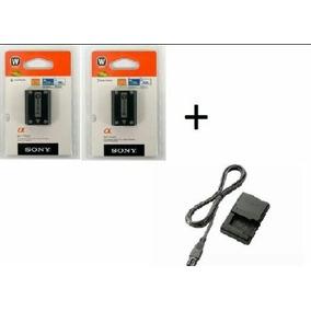 Kit 2 Baterias Sony Np-fw50 Original + Carregador Bc-vw1
