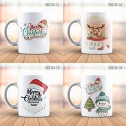 Tazas Navideñas Varios Diseños, Económicas