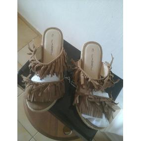 Sandalias De Damas Label, Tipo Suecos Y Talla 37