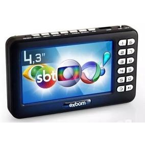 Tv Portatil Conversor Antena Digital 4.3 Polegada Full Hd Fm