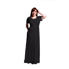 Hermoso Vestido De Encaje Talla Extra 9xl Negro