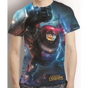 Camisa Riot Blitzcrank League Of Legends Estampa Total Lol