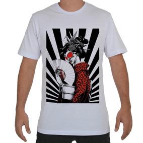 63bb792d95484 Camiseta Camisa Gueixa Japonesa Leque Japão Origami N.2368