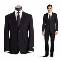 Terno Slim Masculino Oxford Italiano 2 Botões+gravata Brinde