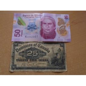 Billete Canada 25 Centavos 1900