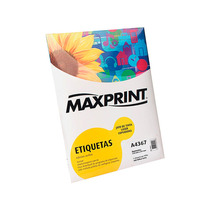 Etiqueta A4 Pimaco 100 Folhas Em Adesivo Acrílico Maxprint