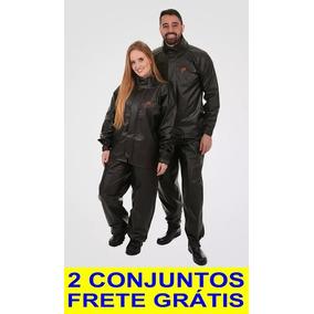Kit Duas Roupa De Chuva Pvc P/ Motociclista Motoqueiro Combo