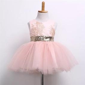 Vestido De Fiesta Con Diadema Niña Niñas Tul Moño Brillante