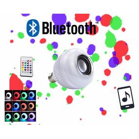 Lâmpada Led Rgb Caixa De Som Bluetooth + Controle Remoto
