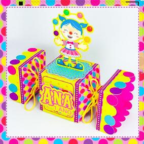 10 Caixas Bala Circo Rosa Menina Personalizados Infantil
