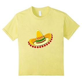 Unisex-niño Sombrero Sombrero Mexicano Camiseta Mariachi Fi