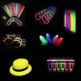 Paquete Neon Articulos Glow Led Batucada Eventos Bodas