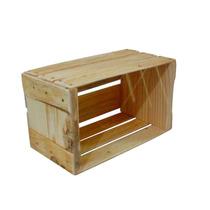 Caixote De Madeira Quadrado Estilo Caixa De Feira Pequeno