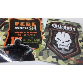 30 Invitaciones Cumple Call Of Duty