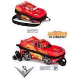 Mochila + Lancheira Escolar 3d V8 3 Rodas Alça Retrátil