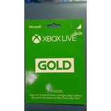 Membresia Xbox Live 3 Meses Gold