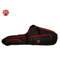 Promoção Semi Case Bag Sax Tenor Em Lona Black / Vermelho
