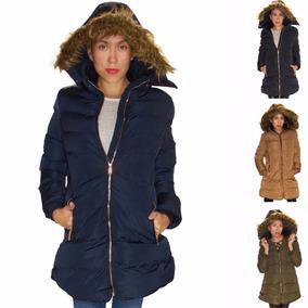 Chamarra Larga Invierno Abrigo Mujer Con Gorro Rack & Pack