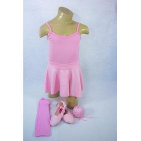 Conjunto Kit Roupa De Bale Ballet Infantil