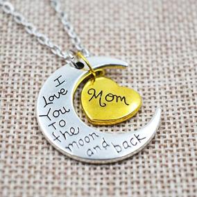 Collar Dije Dia 10 Mayo Hermoso Regalo Para Mama Madres Luna