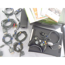 Xbox 360 Elite 120gb Completo Com Caixa + Brindes