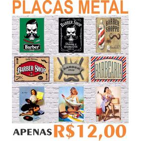 Placas Metal Estilo Rustico Retro Vintage Decoração Bar