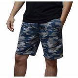 Bermuda Shorts Moleton Moletinho Camuflada Masculina
