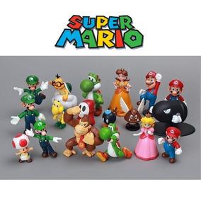 Coleção Kit 18 Miniaturas Super Mario Bros Pronta Entrega!