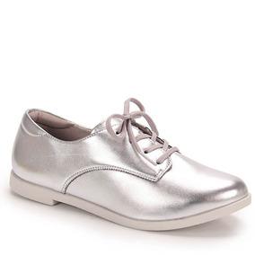 Sapato Oxford Feminino Vivaice - Prata